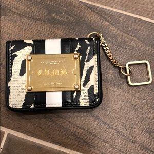 Gwen Stefani LAMB Zebra Wallet with Gold Key Chain